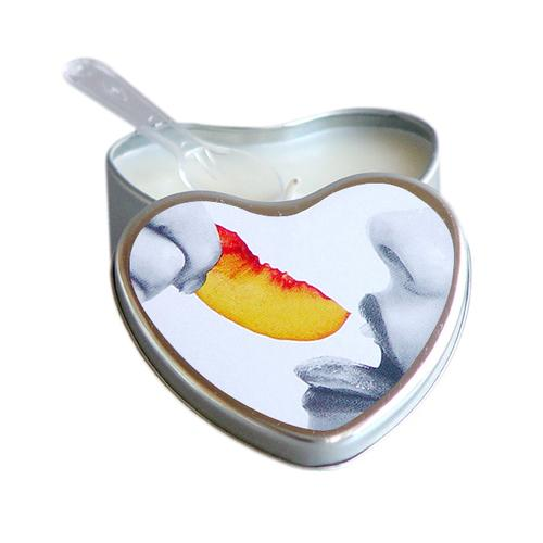 EB Massage Candle Edible Peach 4oz Heart