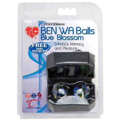 Cyber Glass Ben Wa Balls-Blue Blossom