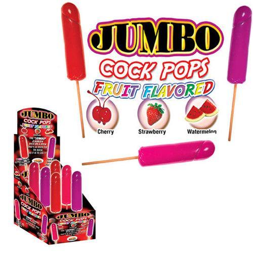 Jumbo Cock Pops Asst Fruit Flavor (6/DP)