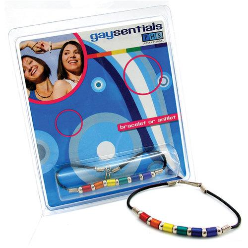 GS Rainbow Aluminum Tube Bracelet 8in.