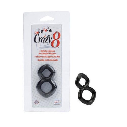 Crazy 8 Cock Ring (Black)