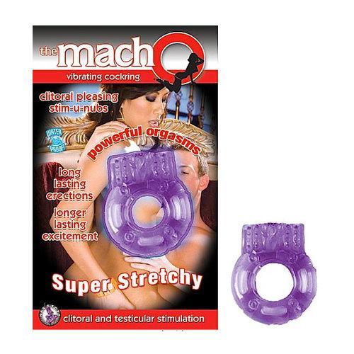 Macho Vibrating Cockring (Purple)