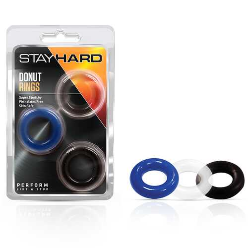 Stay Hard - Donut Rings - Assorted (3)