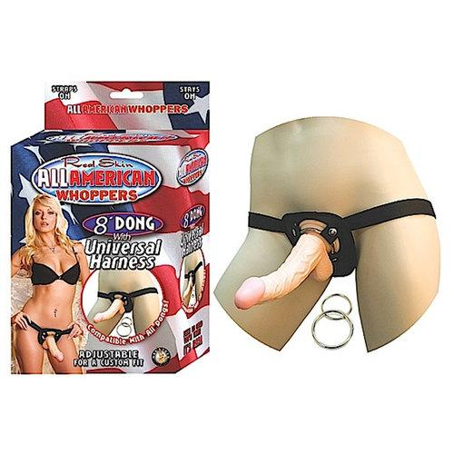 All Amer Whopper 8in. Dong W/Harness