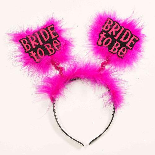 Bride To Be Headband-Blk/Pink