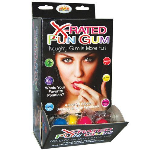 X-Rated Fun Gum Wall Mount DP (90pcs)