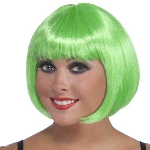 Wig Neon Bob Green