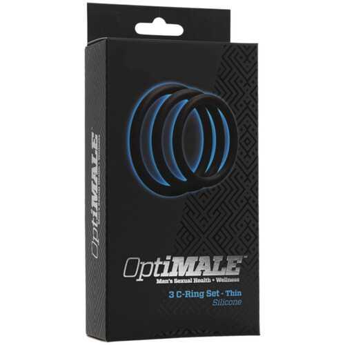 OptiMALE  3 C-Ring Set  Thin Black