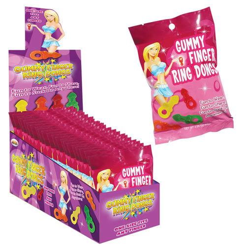 Gummy Finger Ring Dongs 8/Bag(12/DP)