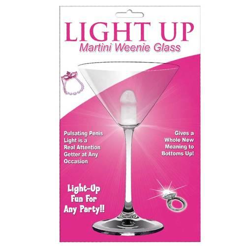 Light Up Martini Weenie Glass-Clear