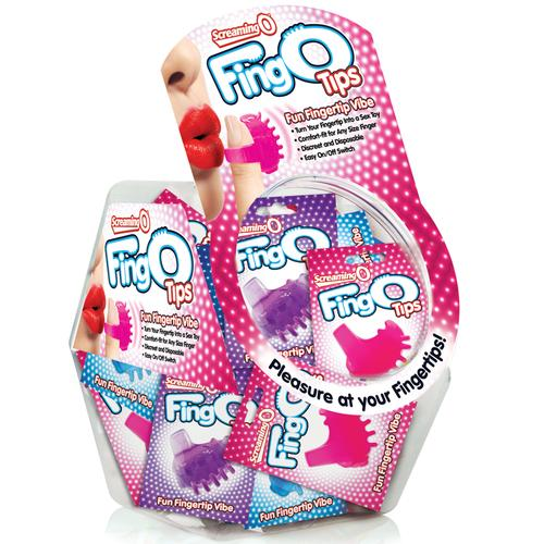 Screaming O FingO Tips Asst (Bowl/36)