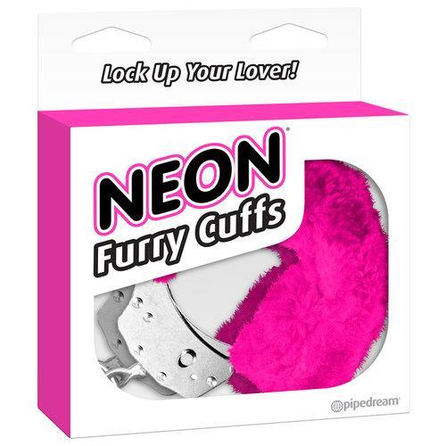 Neon Furry Cuffs - Pink