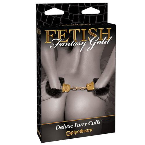 FF Gold - Deluxe Furry Cuffs