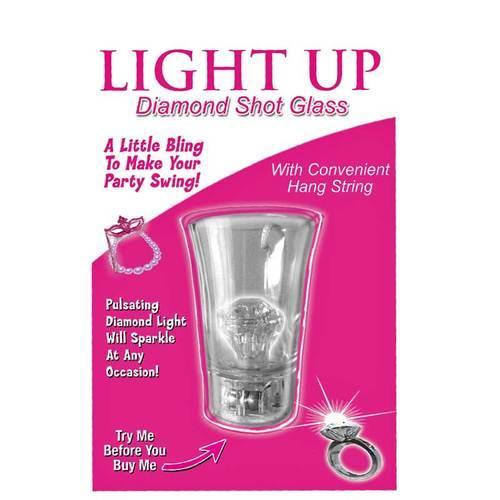 Light Up Diamond Shot Glass w/String Clr