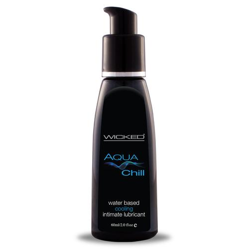 Wicked Aqua Chill Waterbased Lube 2oz.