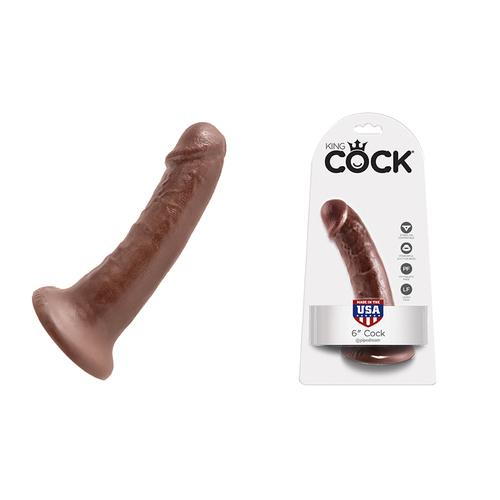 King Cock - 6in Cock Brown