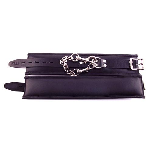 Rouge Padded Ankle Cuffs Black