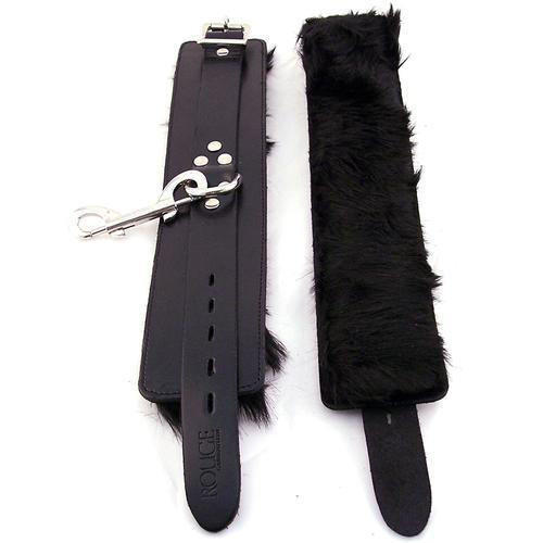 Rouge Wrist Cuffs, Fur Black