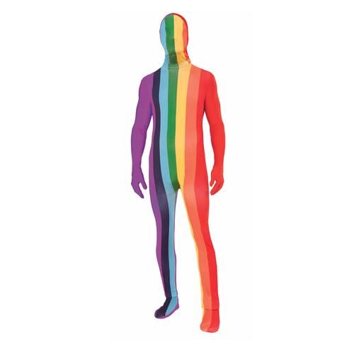 Rainbow Disappearing Man Suit Std