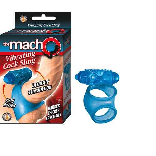 The Macho Vibrating Cocksling (Blue)