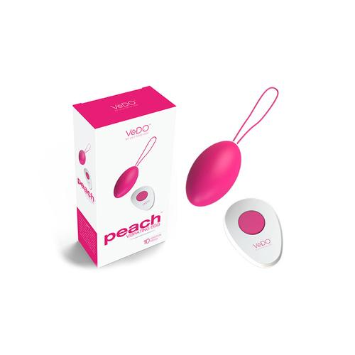 VeDO Peach Rechargeable Egg Vibe Pink