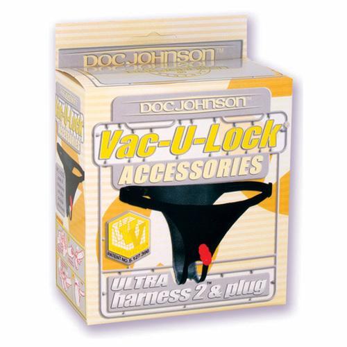 Vac-U-Lock Ultra Harness w/Plug Black