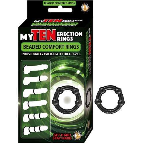 My Ten Erection Rings Beaded Comfort Bk