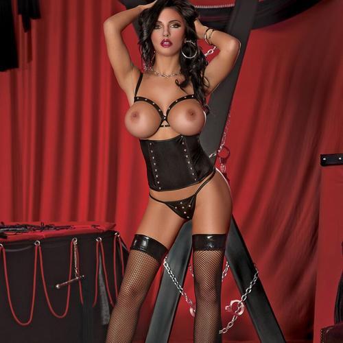 Lust Fetish Vixen Black L/XL