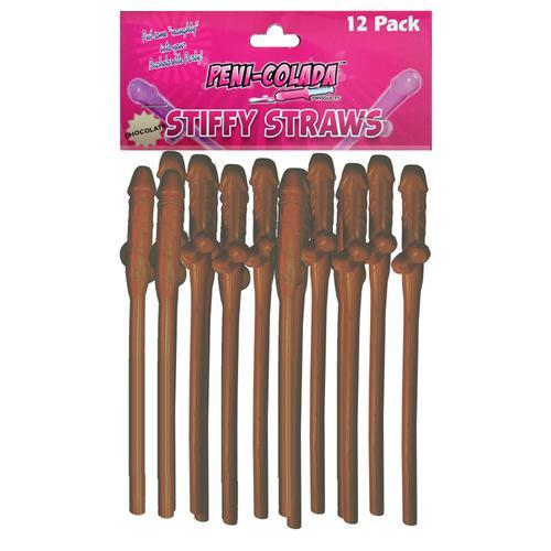 Peni-Colada Stiffy Straws Choc (12/Pk)