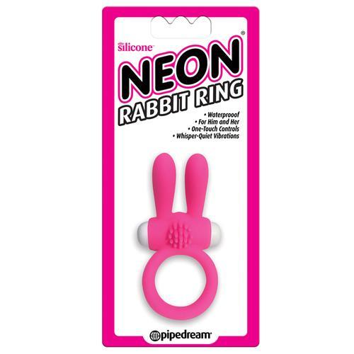 Neon Rabbit Ring Pink
