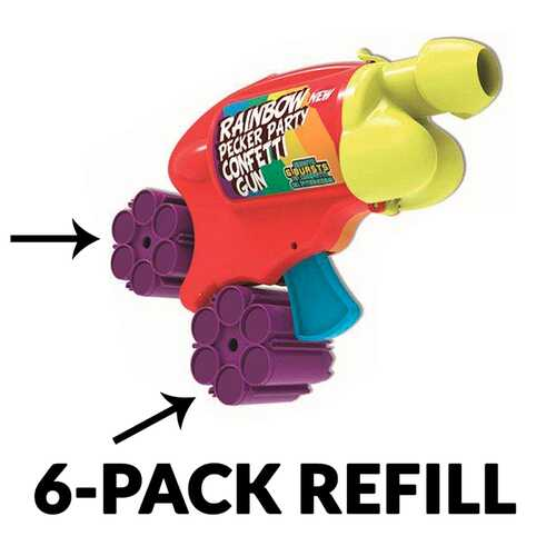 Pecker Party Confetti Gun Refills 6pk