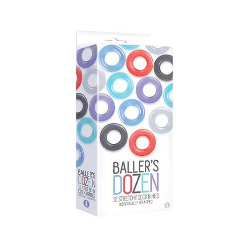 The 9's Ballers Dozen 12pc Cock Ring Set