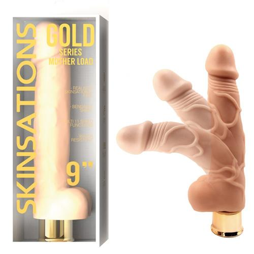 Skinsations Gold Mom Load 9in Vibe Dildo