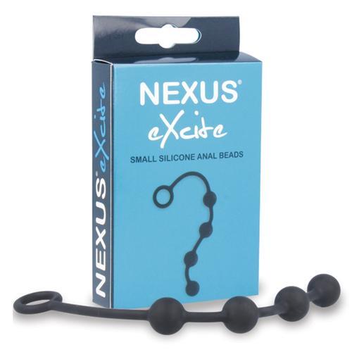 Nexus EXCITE Silicone Anal Beads - Black