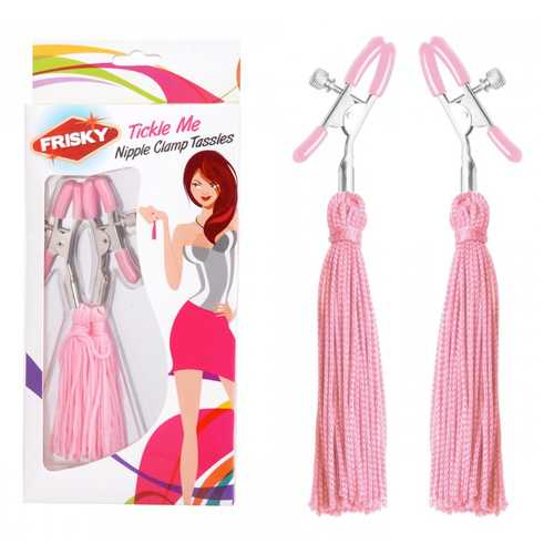 Frisky Tickle Me Pink Nipp Clamp Tassels