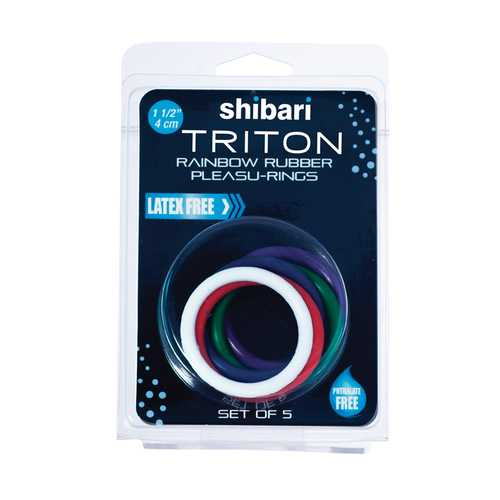 Triton Rainbow Cockrings (5/Pk)