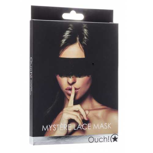 Ouch! Mystre Lace Mask - Black