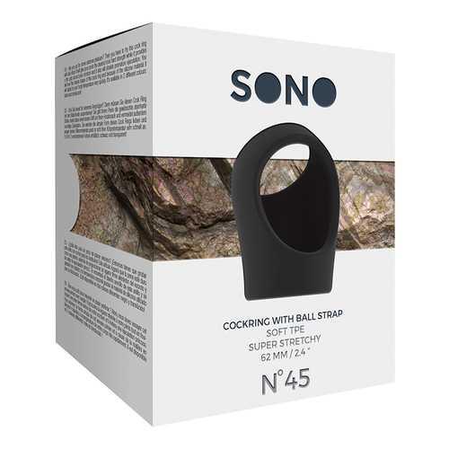 Sono No.45 - Cockring w/Ball Strap Black