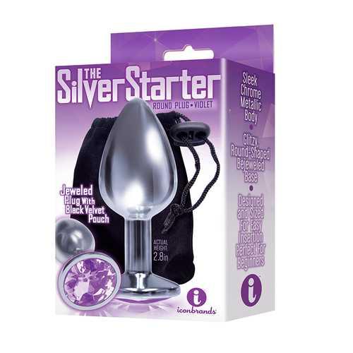 The 9's Silver Starter Steel Plug Violet