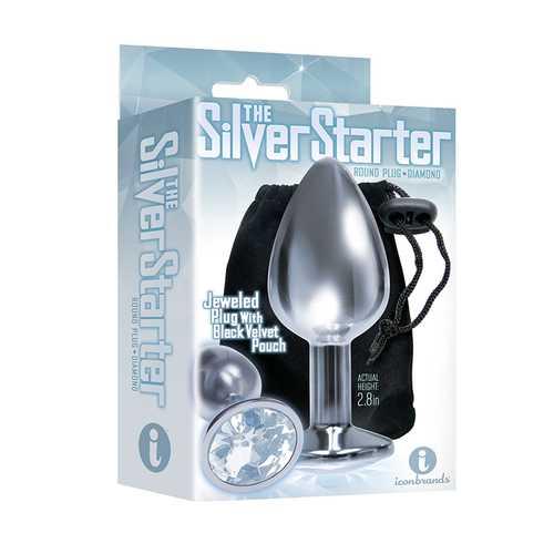 The 9's Silver Starter Steel Plug Diamon