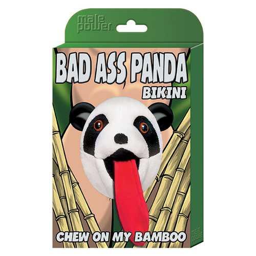 MP Novelty Bad Ass Panda Bikini Blk O/S