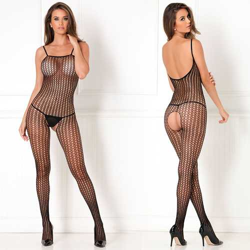 Crotchless Crochet Knit Bodystcking Quee