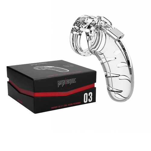 ManCage Model 03 - Chastity 4.5in Trans