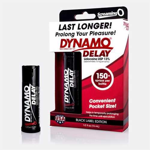Screaming O Dynamo Delay Black 0.5 fl oz