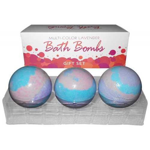 Bath Bomb Multi Color (3pc) Lav Gift Set