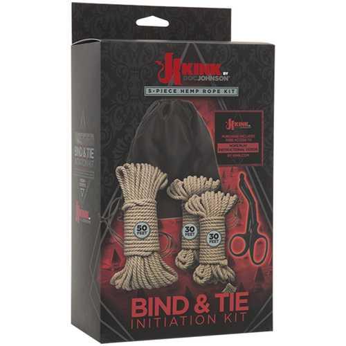KINK Bind & Tie Kit Hemp Rope 5pc