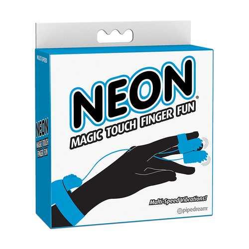 Neon Magic Touch Finger Fun Blue