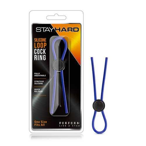 Stay Hard - Sili Loop Cock Ring Blue