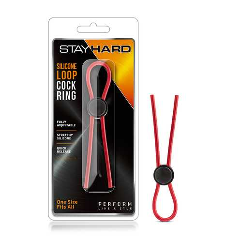 Stay Hard - Sili Loop Cock Ring Red