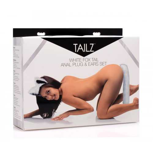 Tailz White Fox Tail and Ears Set